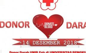 Donor Darah UNIB Fair di UNIVERSITAS BENGKULU