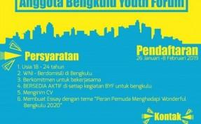 Open Recruitment anggota Bengkulu Youth Forum